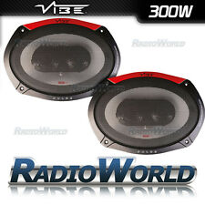 "69 Vibe Pulse 6x9"" 300 W 3-Way Coassiale Audio Per Auto Coppia Altoparlanti Scaffale"
