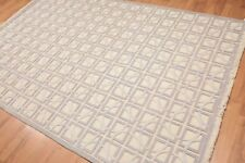 6' x 9' Hand Knotted High Low Pile 100% Wool Area Rug AOR8550