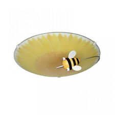 1 Lt Bumble Bee Children's Flush Ceiling light Novelty Bedroom Light Litecraft