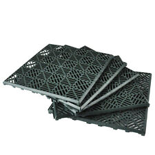 5x Garden Path Floor Tile Lawn Paving Plastic Grid Outdoor 30cm Square DIY NEW