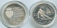 G0465 - Andorra 10 Diners 1989 KM#55 Silber Olympia Albertville 1992 PROOF