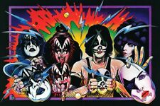 "KISS Unmasked '70's Poster Hair Metal 7"" x 5"" Unframed Print"