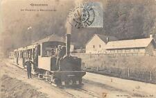 CPA 88 GERARDMER LE TRAMWAY A RETOURNEMER (TRES GROS PLAN SUPERBE