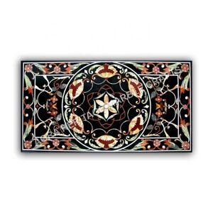 5'x3' Marble Dining Center Table Top Handicraft Pietra Dura Inlay Desgn E969A