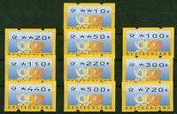 Bund ATM 3.3 VS 2 sauber postfrisch Automatenmarken kleines Posthorn TYP 3 MNH