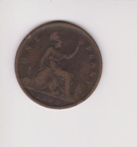 Victoria One Penny 1863.COIN.GH205