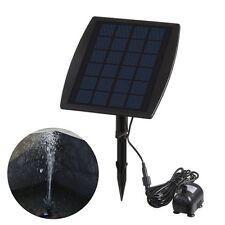 12V Solar Panel Power Water Pump For Fountain Pool Pond Garden Plants Aquarium