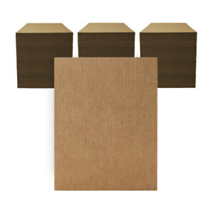 "300 - 8 1/2"" x 11"" Corrugated Cardboard Pads/Inserts/Sheets 32 ECT - USA"