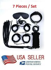 NEW 7Pcs/Set Kit Flirt Toy Slave Sex Toys Hot Couple Fun Cosplay Strap Handcuffs