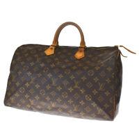 Auth LOUIS VUITTON Speedy 40 Travel Hand Bag Monogram Leather M41522 70BQ408