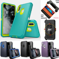 For Samsung Galaxy A20S A20 A10e Case Hybrid Cover Armor With Belt Clip Holster