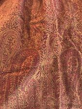 Pottery Barn Red Wool Paisley Inverted Pleat Drape Panel 50� X 96� Floral Vine