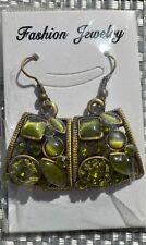 green cats eye earrings dangle