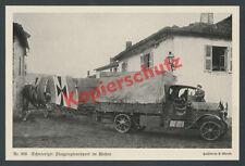 Avión imperial tropa FFA 34 avión transporte Fokker E. III camiones 1915