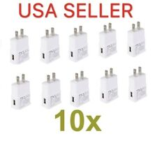 10x White 1A Usb Power Adapter Ac Home Wall Charger Us Plug For iPhone Samsung