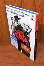 Django Unchained w/ Slip Cover (Blu Ray / DVD, 2013, 3-Disc Set)