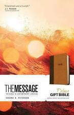 Message Deluxe Gift Bible: The Bible in Contemporary Language (Leather / Fine Bi