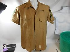Men's Flying Cross Distinguished Service Khaki Short Sleeve Shirt LARGE CHEVRONS