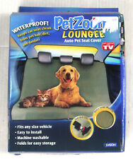 New listing PetZoom Loungee Waterproof Auto Pet Seat Cover - New Open Box