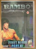 Rambo First Blood Part 2 DVD II 1985 Sylvester Stallone Action Movie Classic