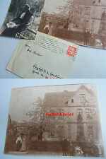 "Großes Foto (22x17 cm) BUXTEHUDE um 1890: ""Hecker-Haus""; wohl Harburger Str. 36"
