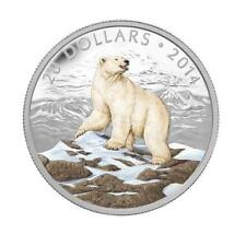 2014 Canada $20 Polar Bear & Caribou - Two Coloured Fine Silver Coins