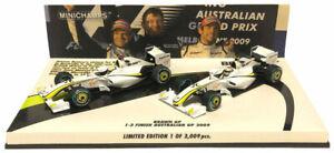 Minichamps Brawn BGP001 '1-2 Finish' Australian GP 2009 - 2 Car Set 1/43 Scale