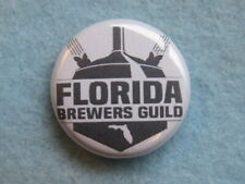 BEER Brewery BUTTON Pinback ~ FLORIDA BREWERS GUILD ~ Promoting Craft Breweries