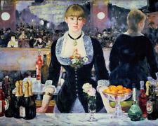 Edouard Manet A Bar at the Folies Fine Art Print on Paper Poster 20.5x28