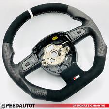 Tausch Tuning Alcantara S-LINE  Lenkrad AUDI A4 A5 A6 8E0 8K0 4F0 8T Weiss Ring