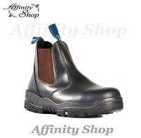 Bata Trekker Safety Work Boots Claret Leather Footwear with Steel Toe Cap AS/NZS