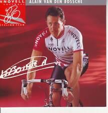 CYCLISME carte cycliste ALAIN VAN DEN BOSSCHE équipe NOVELL 1995
