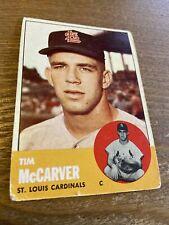 1963 Topps Tim McCarver #394 St Louis Cardinals Vintage Baseball Card (poor)(a)