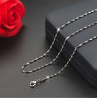 Silberkette Halskette für Anhänger 45cm Edelstahl Kette 2MM für Damen Frauen