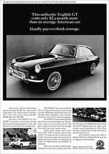 MG MGB GT MGBGT RETRO POSTER A3 PRINT FROM CLASSIC 60'S ADVERT