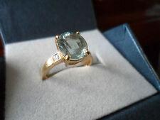 BEAUTIFUL 18K YELLOW GOLD PARAIBA TOURMALINE DIAMOND GOLD RING 2.08CT EYE CLEAN