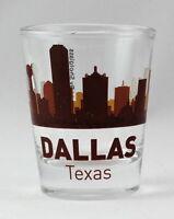 DALLAS TEXAS SUNSET SKYLINE SHOT GLASS SHOTGLASS