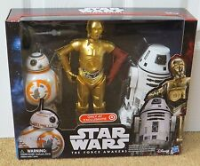"""STAR WARS THE FORCE AWAKENS 12"""" DROID 3 PACK C-3PO,BB-8,RO-4LO TARGET EXCLUSIVE"""