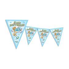 FESTONE BATTESIMO BIMBO Bandierine Azzurro 3,60 m Addobbi feste ed eventi