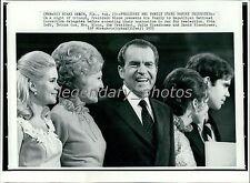 1972 Richard Nixon and Family Accept Nomination Original New Service Photo