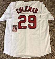 Vince Coleman St. Louis Cardinals JSA Authenticated Signed Autographed Jersey