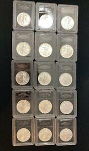 American Eagle BU Grade Silver Slabbed (1986-2000) - U.S. Mint Coin Collectibles