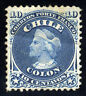 Chile 1867. 10c. Blue. SC# 18. Perf 12. MH