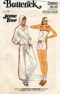 70's VTG Butterick Misses' Jacket,Top,Pants,Shorts Jane Tise Pattern 5990 12 UNC