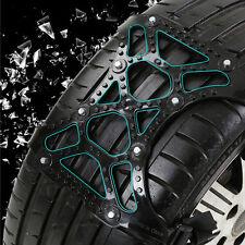 Car Vehicle Truck Off-Road SUV Safe Snow Tire Wheel Chain Anti-skid Belt Black