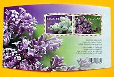 Canada  Sc# 2206  SOUVENIR SHEET flowers LILACS w/ 2x52ȼ STAMPS  MNH