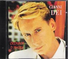 "GIANNI DEI - RARO CD FUORI CATALOGO "" CRONACA D'AMORE """