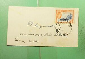 DR WHO 1958 GILBERT & ELLICE ISLANDS VAITUPU TO USA  g20049