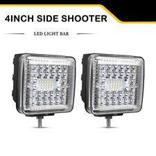 2 x 4 inch 1290W Side Shooter LED Work Light Bar Spot Flood Offroad 4WD SUV 12V