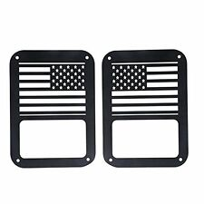 2pcs Tail light Cover for Jeep Wrangler Unlimited 2007 2016 USA Flag